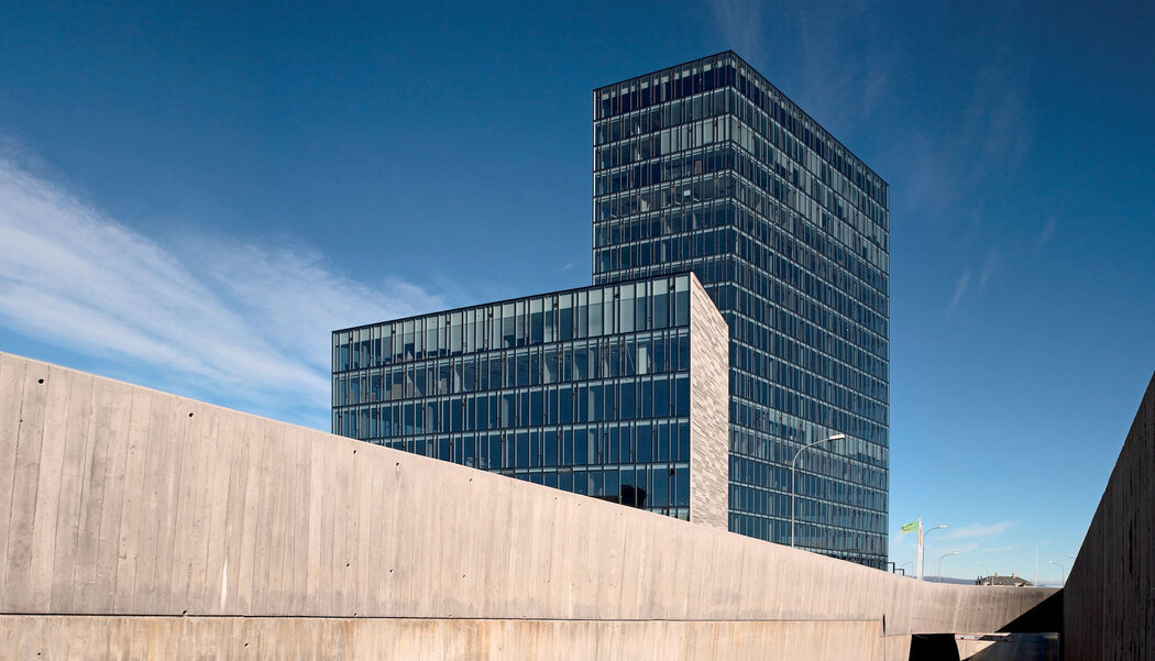 CW 86 Curtain Walls - Office building Höfdatorg located in Reppel, Iceland